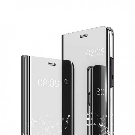Zrcadlové pouzdro Clear View pro Apple iPhone Xs Max - stříbrné