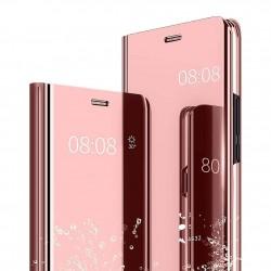 Zrcadlové pouzdro Clear View pro Apple iPhone Xs Max - růžové