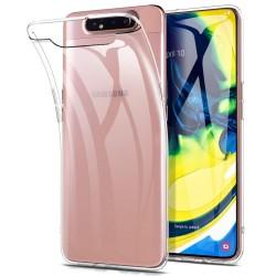 Silikonový kryt pro Samsung Galaxy A80 - průhledný