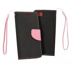 Fancy pouzdro pro Apple iPhone 11 - černo/růžový