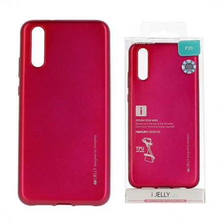 Pouzdro Mercury i-Jelly Metal pro Huawei P30 - růžové