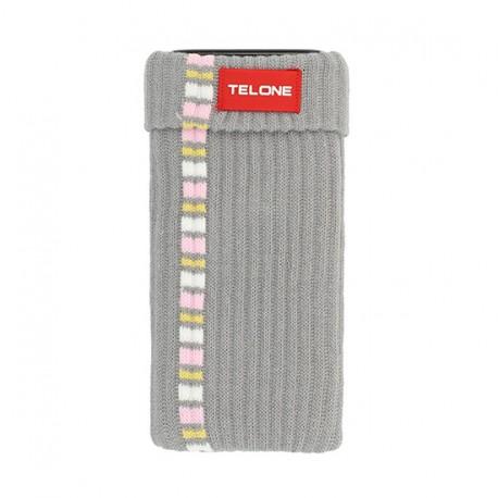 Telone textilní pouzdro na mobilní telefon 7x14cm - Šedivé