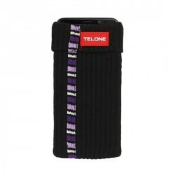 Telone textilní pouzdro na mobilní telefon 7x14cm - Černé proužek