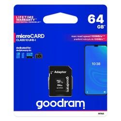 GOODRAM microSDHC 64 GB + adapter