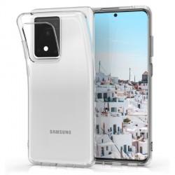 Ultratenký silikonový kryt pro Samsung Galaxy S20 Ultra - průhledný