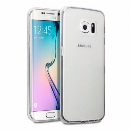 Ultratenký silikonový kryt pro Samsung Galaxy S6 Edge - průhledný