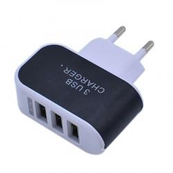 Nabíječka 3 USB porty (3.1A) - černá