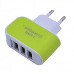 Nabíječka 3 USB porty (3.1A) - zelená