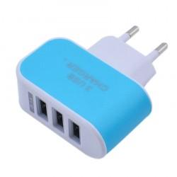 Nabíječka 3 USB porty (3.1A) - modrá