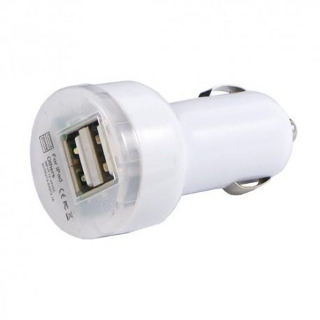 Universální duální USB autonabíječka s přepěťovou ochranou - bílá