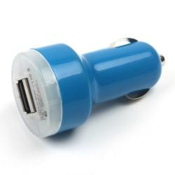 Universální duální USB autonabíječka s přepěťovou ochranou - modrá