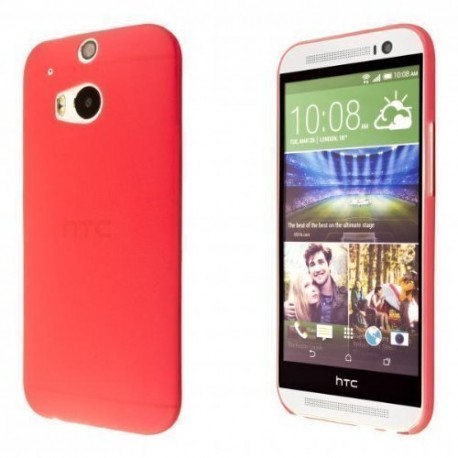 Ultratenký kryt pro HTC One M8 červený