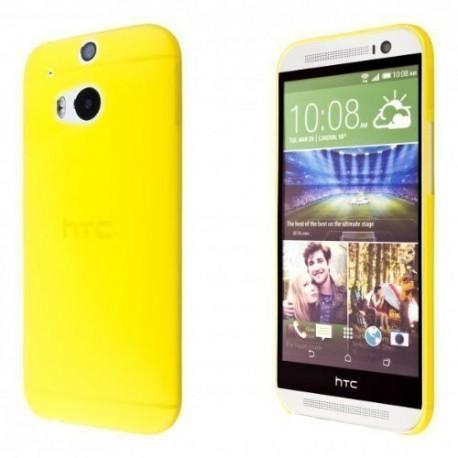 Ultratenký kryt pro HTC One M8 žlutý