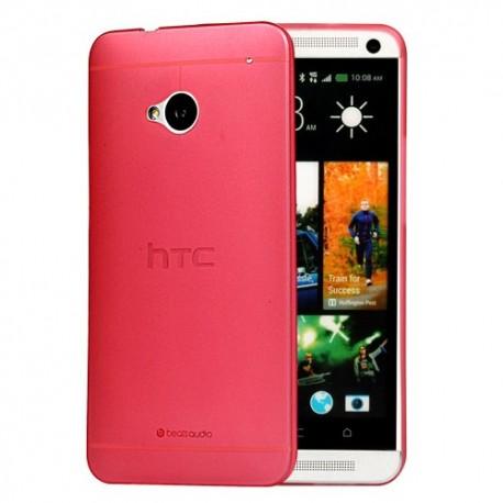 Ultratenký kryt pro HTC One M7 červený