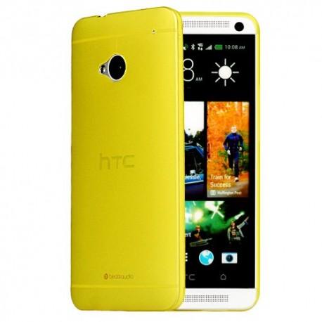 Ultratenký kryt pro HTC One M7 žlutý