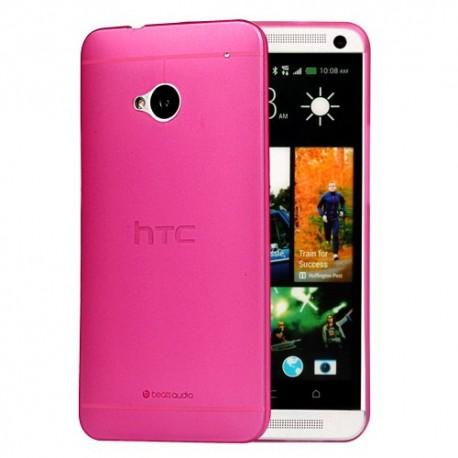 Ultratenký kryt pro HTC One M7 růžový