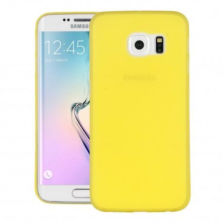 Ultratenký kryt pro Samsung Galaxy S6 Edge žlutý