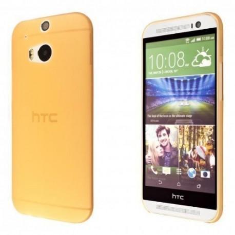 Ultratenký kryt pro HTC One M8 oranžový