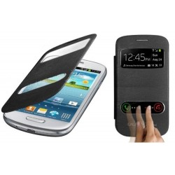 Pouzdro flip S-view pro Samsung Galaxy S3 mini - černé