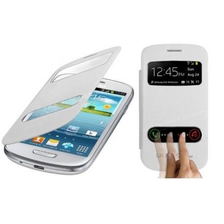 Pouzdro flip S-view pro Samsung Galaxy S3 mini - bílé