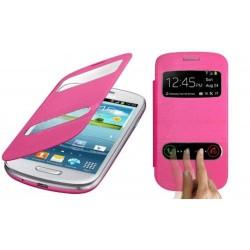 Pouzdro flip S-view pro Samsung Galaxy S3 mini - růžové