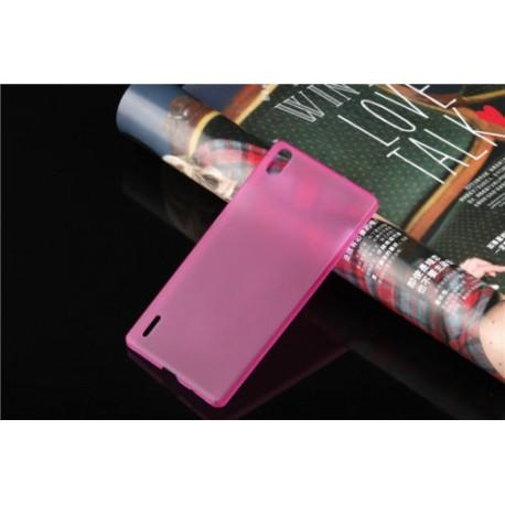 Ultratenký kryt pro Huawei P7 růžový