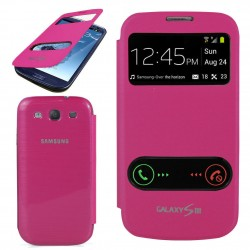 Pouzdro flip S-view pro Samsung Galaxy S3 - růžové