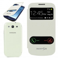 Pouzdro flip S-view pro Samsung Galaxy S3 - bílé