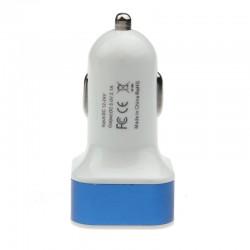 InHouse auto USB nabíječka hranatá modrá