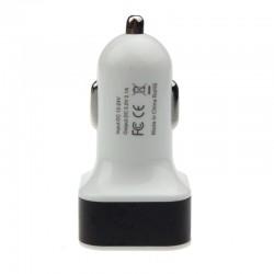 InHouse auto USB nabíječka hranatá černá