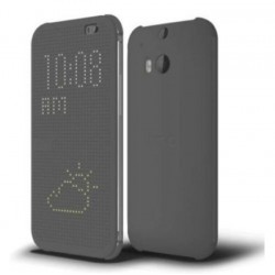 Pouzdro DOT VIEW HTC One M9 šedé