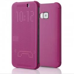 Pouzdro DOT VIEW HTC One M9 fialové