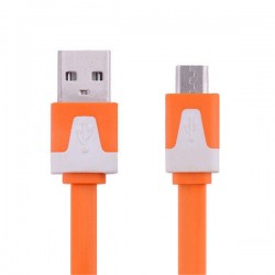 Kabel Micro USB oranžový 1m