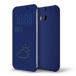 Pouzdro DOT VIEW HTC One M8 modré