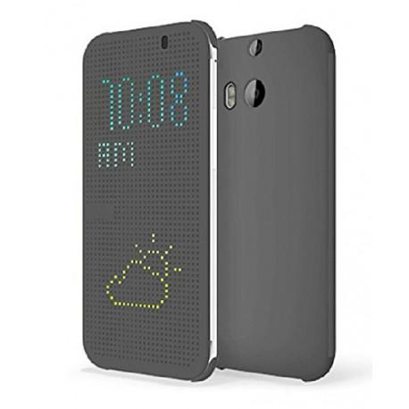 Pouzdro DOT VIEW HTC One M8 šedé