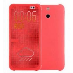 Pouzdro DOT VIEW HTC One M9 červené