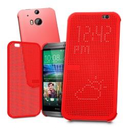 Pouzdro DOT VIEW HTC One M9 Plus červené