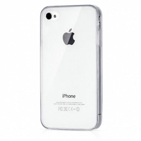 Ultratenký silikonový kryt pro Apple iPhone 4/4S - průhledný