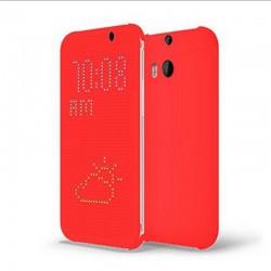 Pouzdro DOT VIEW HTC One M8 červené