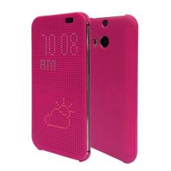 Pouzdro DOT VIEW HTC One M9 růžové
