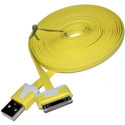 Kabel 30pin datový a nabíjecí žlutý 1M