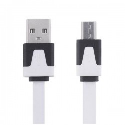 Kabel Micro USB bílý 1m
