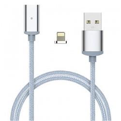 Magnetický nabíjecí kabel Lightning - stříbrný