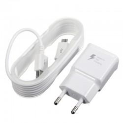 Cestovní rychlo nabíječka bílá + Micro USB kabel