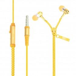 Zipová sluchátka žluté