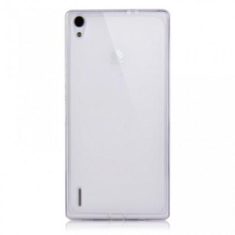 Ultratenký silikonový kryt pro Huawei P7 - průhledný