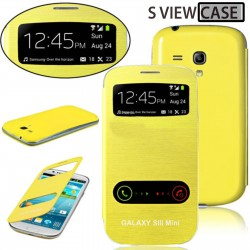 Pouzdro flip S-view pro Samsung Galaxy S3 mini - žluté