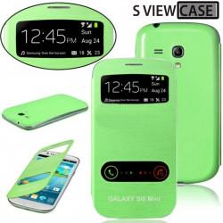 Pouzdro flip S-view pro Samsung Galaxy S3 mini - zelené