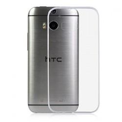 Ultratenký silikonový kryt pro HTC One M8 - průhledný