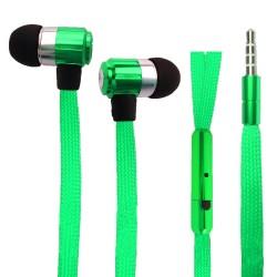 Sluchátka tkaničky zelené